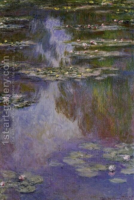 Water-Lilies 9 by Claude Oscar Monet - Reproduction Oil Painting