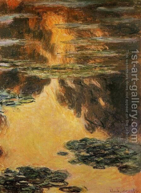 Water-Lilies 12 by Claude Oscar Monet - Reproduction Oil Painting