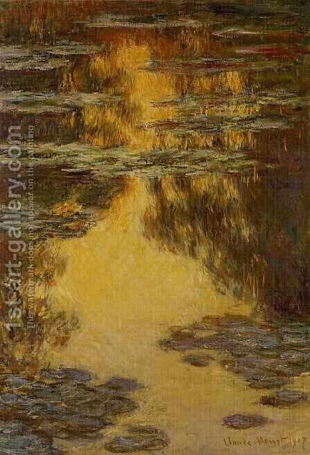 Water-Lilies 13 by Claude Oscar Monet - Reproduction Oil Painting