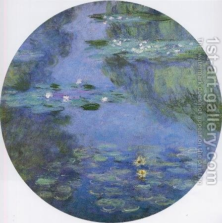 Water-Lilies 15 by Claude Oscar Monet - Reproduction Oil Painting