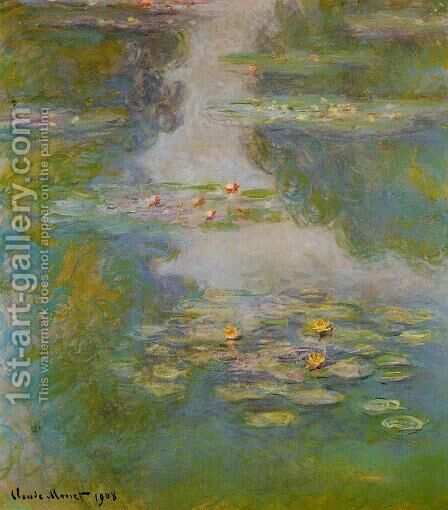 Water-Lilies 16 by Claude Oscar Monet - Reproduction Oil Painting