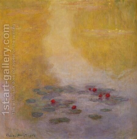 Water-Lilies 19 by Claude Oscar Monet - Reproduction Oil Painting