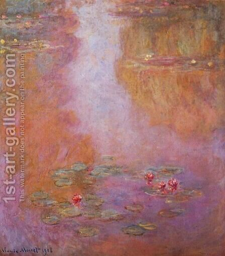 Water-Lilies 20 by Claude Oscar Monet - Reproduction Oil Painting