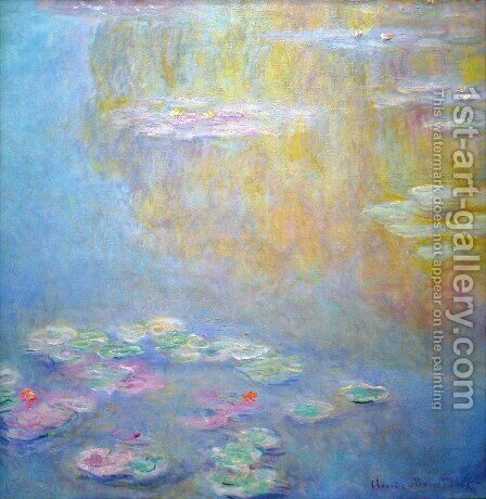 Water-Lilies 22 by Claude Oscar Monet - Reproduction Oil Painting