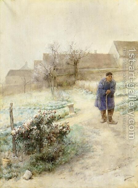 November by Carl Larsson - Reproduction Oil Painting