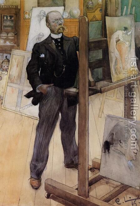 Self Portrait by Carl Larsson - Reproduction Oil Painting