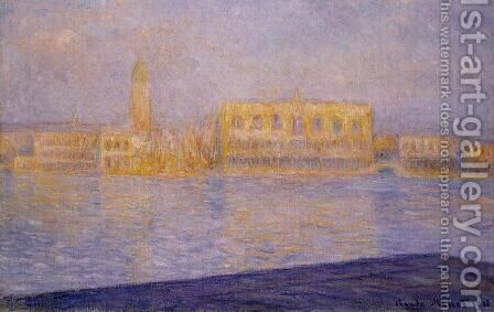 The Doges' Palace Seen from San Giorgio Maggiore III by Claude Oscar Monet - Reproduction Oil Painting