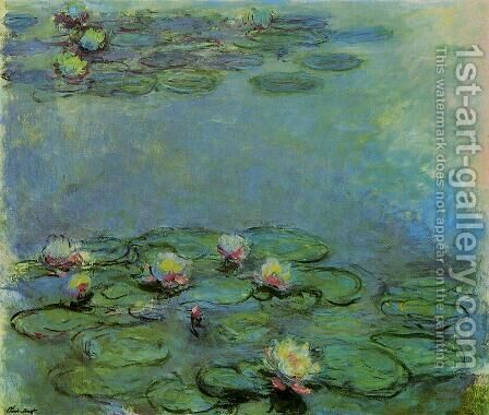 Water-Lilies 25 by Claude Oscar Monet - Reproduction Oil Painting
