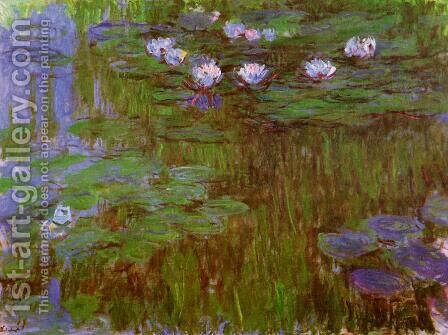 Water-Lilies 26 by Claude Oscar Monet - Reproduction Oil Painting