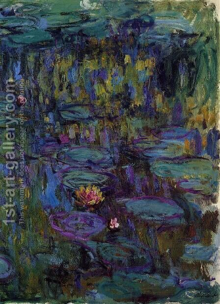 Water-Lilies 27 by Claude Oscar Monet - Reproduction Oil Painting