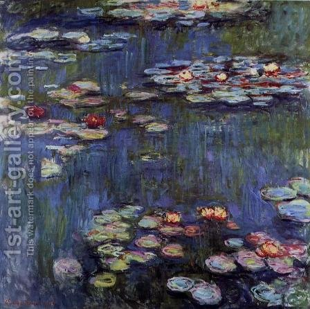 Water-Lilies 29 by Claude Oscar Monet - Reproduction Oil Painting