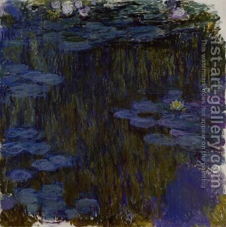 Water-Lilies 30 by Claude Oscar Monet - Reproduction Oil Painting