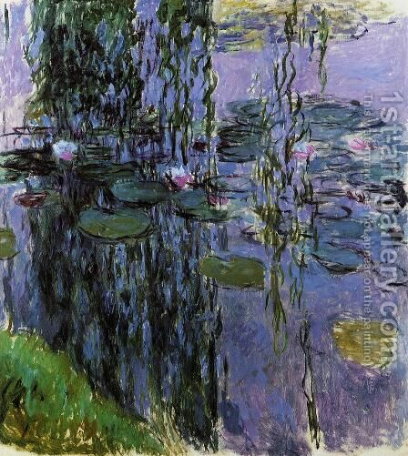Water-Lilies 35 by Claude Oscar Monet - Reproduction Oil Painting