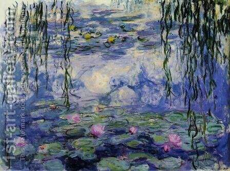 Water-Lilies 36 by Claude Oscar Monet - Reproduction Oil Painting