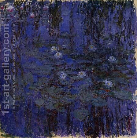Water-Lilies 37 by Claude Oscar Monet - Reproduction Oil Painting