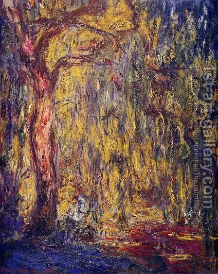 Weeping willow 2 by Claude Oscar Monet - Reproduction Oil Painting