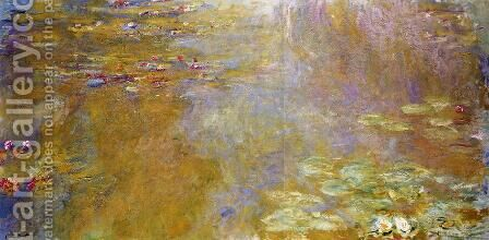 The Water-Lily Pond VI by Claude Oscar Monet - Reproduction Oil Painting