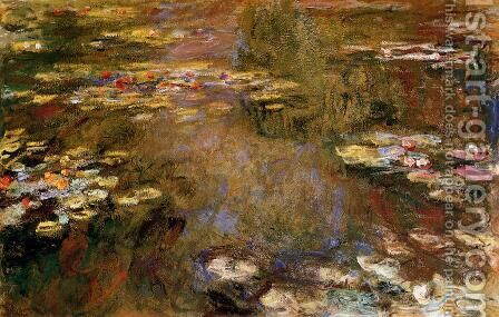 The Water-Lily Pond VII by Claude Oscar Monet - Reproduction Oil Painting