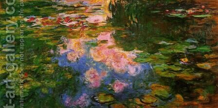The Water-Lily Pond XI by Claude Oscar Monet - Reproduction Oil Painting