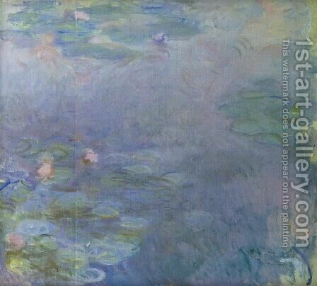 Pale Water-Lilies (detail) by Claude Oscar Monet - Reproduction Oil Painting