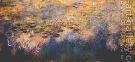 Reflections of Clouds on the Water-Lily Pond (tryptich, center panel) by Claude Oscar Monet - Reproduction Oil Painting