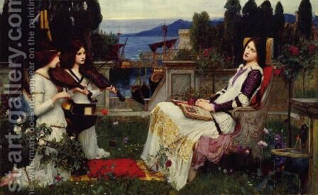 Saint Cecilia by Henry Ryland - Reproduction Oil Painting