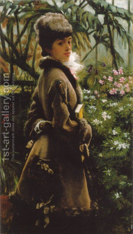 In the Greenhouse by James Jacques Joseph Tissot - Reproduction Oil Painting