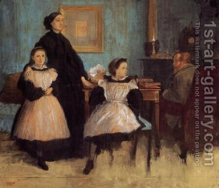 The Bellelli Family by Edgar Degas - Reproduction Oil Painting