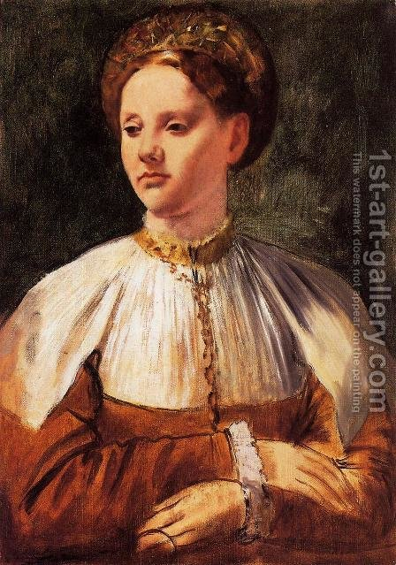 Portrait of a Young Woman (after Bacchiacca) by Edgar Degas - Reproduction Oil Painting