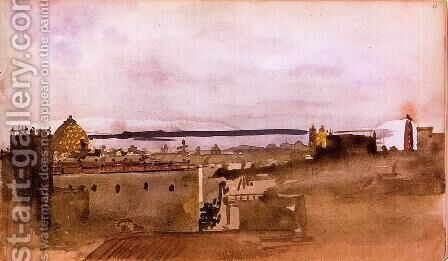 View of Naples by Edgar Degas - Reproduction Oil Painting