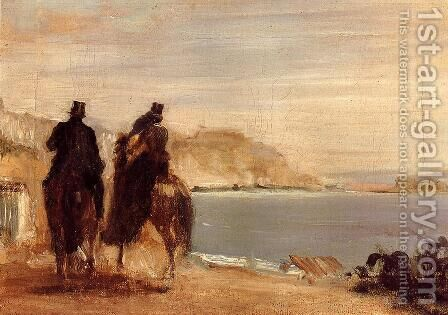 Promenade by the Sea by Edgar Degas - Reproduction Oil Painting