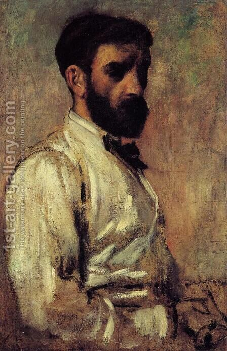 Leon Bonnat by Edgar Degas - Reproduction Oil Painting