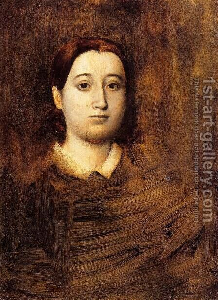 Portrait of Madame Edmondo Morbilli, nee Therese De Gas by Edgar Degas - Reproduction Oil Painting
