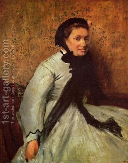 Portrait of a Lady in Grey by Edgar Degas - Reproduction Oil Painting