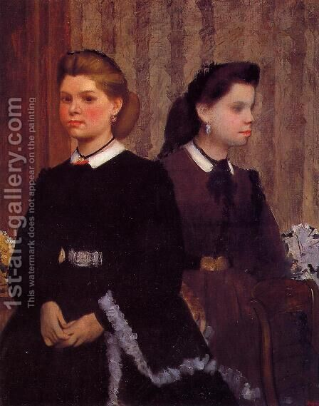 Giovanna and Giulia Bellelli by Edgar Degas - Reproduction Oil Painting