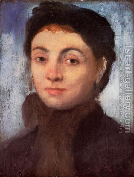 Study for the Portrait of Josephine Gaujean by Edgar Degas - Reproduction Oil Painting