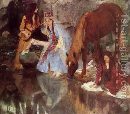 Mlle Fiocre in the Ballet 'La Source' by Edgar Degas - Reproduction Oil Painting