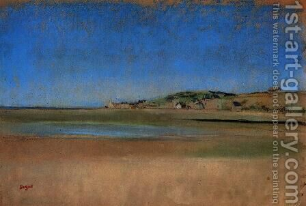 Houses by the Seaside by Edgar Degas - Reproduction Oil Painting