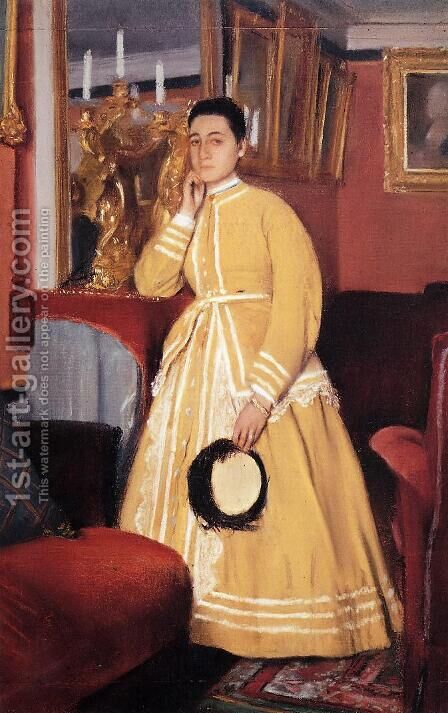 Portrait of Madame Edmondo Morbilli, nee Therese De Gas I by Edgar Degas - Reproduction Oil Painting