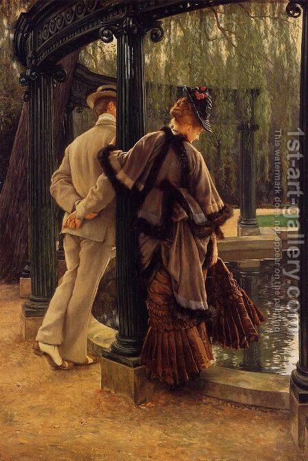 Quarrelling by James Jacques Joseph Tissot - Reproduction Oil Painting