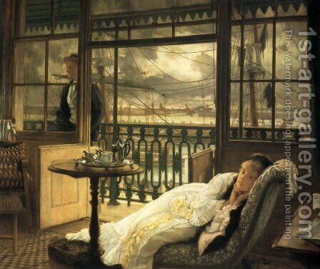 A Passing Storm by James Jacques Joseph Tissot - Reproduction Oil Painting