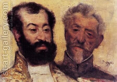 General Mellinet and Chief Rabbi Astruc by Edgar Degas - Reproduction Oil Painting