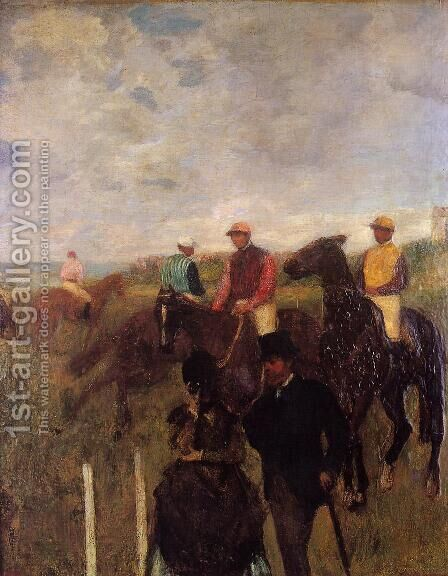 At the Races by Edgar Degas - Reproduction Oil Painting