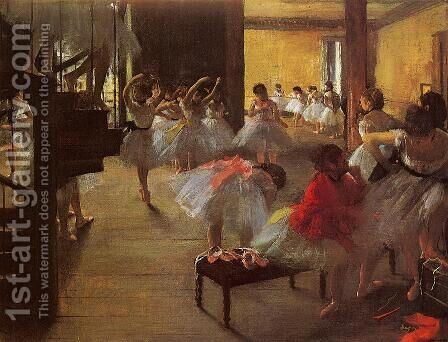 The Dance Class by Edgar Degas - Reproduction Oil Painting