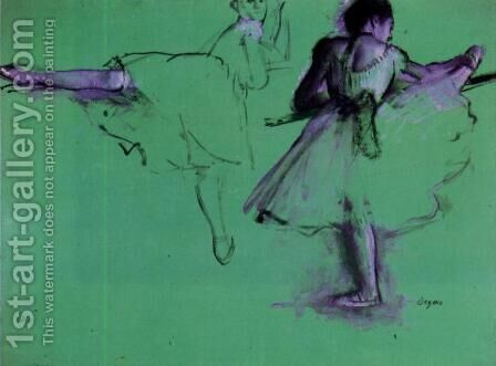 Dancers at the Barre by Edgar Degas - Reproduction Oil Painting