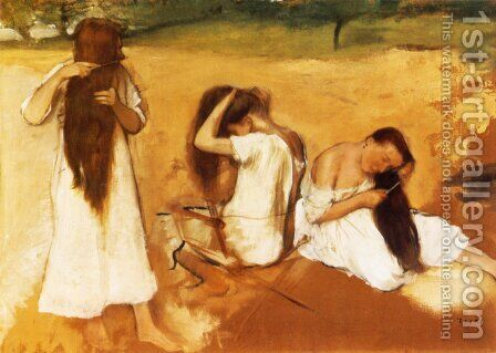 Women Combing Their Hair by Edgar Degas - Reproduction Oil Painting