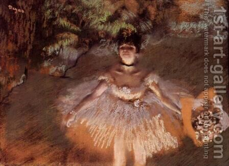 Dancer Onstage with a Bouquet by Edgar Degas - Reproduction Oil Painting