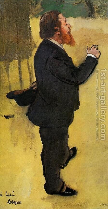 Carlo Pellegrini by Edgar Degas - Reproduction Oil Painting