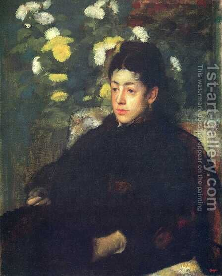 Mademoiselle Malo  (?) by Edgar Degas - Reproduction Oil Painting