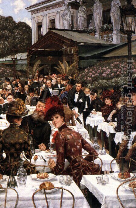 The Artist's Ladies by James Jacques Joseph Tissot - Reproduction Oil Painting